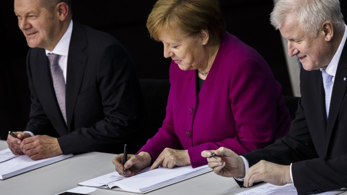 CDU, SPD and CSU Sign Coalition Contract To Form The Next German Government