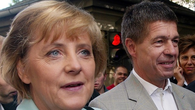 Bundestagswahl - Stimmabgabe Merkel