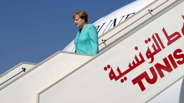 Bundeskanzlerin Angela Merkel zu Besuch in Tunesien