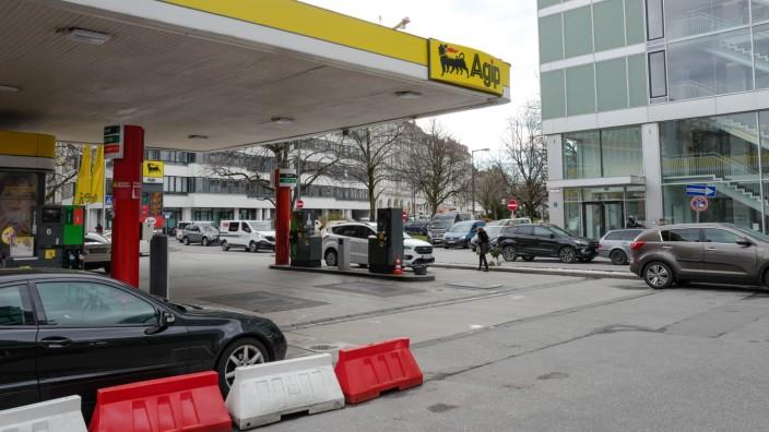 Agip Tankstelle in München