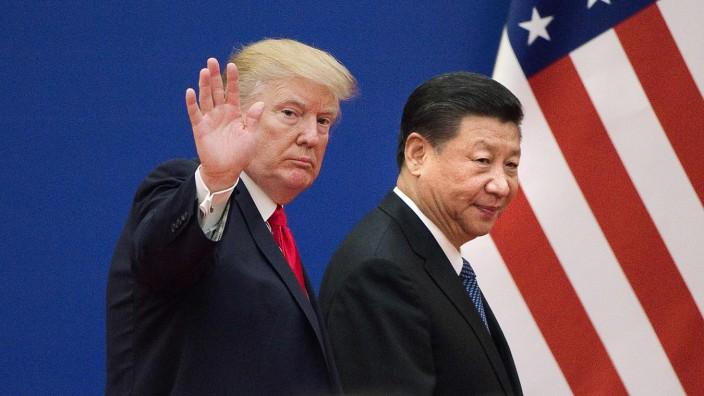 USA und China: Als sich US-Präsident Donald Trump und Chinas Präsident Xi Jinping im vergangenen November trafen, waren die Beziehungen zwischen den beiden Ländern noch in Ordnung.