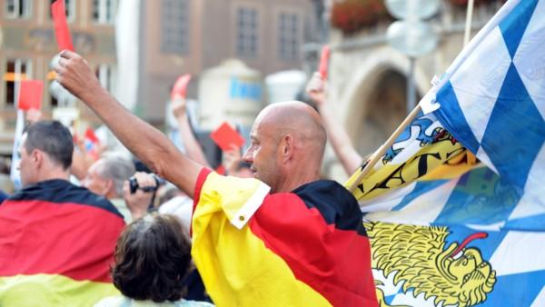 Pegida Demonstration in München, 2015