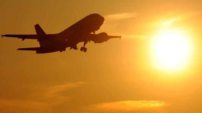 Flugzeug am Münchner Flughafen