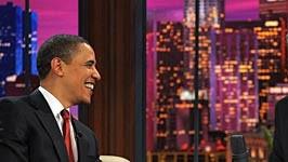 Als erster amtierender US-Präsident tritt Barack Obama in einer Late-Night-Show auf. Wenn das mal gut geht: Denn er will trotz des komödiantischen Formats über die Finanzkrise sprechen.