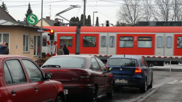 S-Bahnübergang Fasanerie in München, 2009