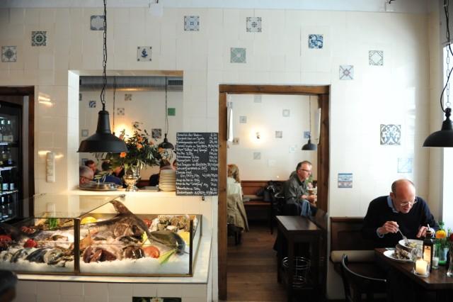 """Fischrestaurant """"Pescheria"""" in München, 2014"""