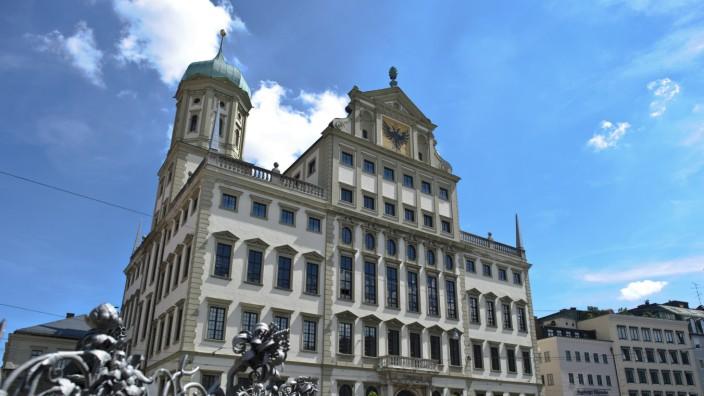 Stadt Augsburg Rathaus Evakuierung