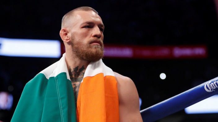 FILE PHOTO - Conor McGregor makes his entrance before the fight