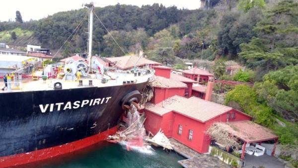 Schiffsunfall am Bosporus