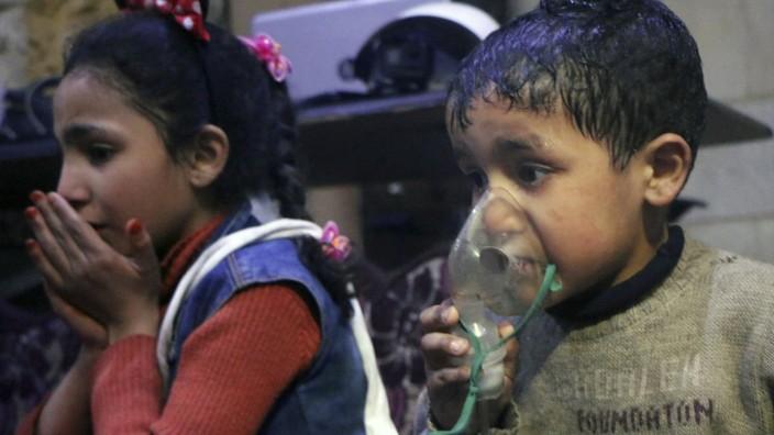Mutmaßlicher Giftgasangriff in Syrien