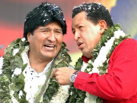 Chavez, Morales; AFP