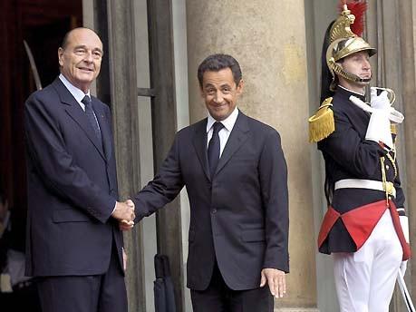 Sarkozy, Chirac; dpa