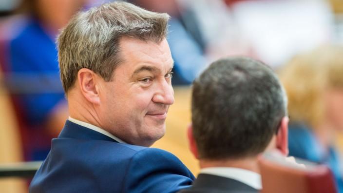 Bayerns Ministerpräsident Markus Söder im Landtag