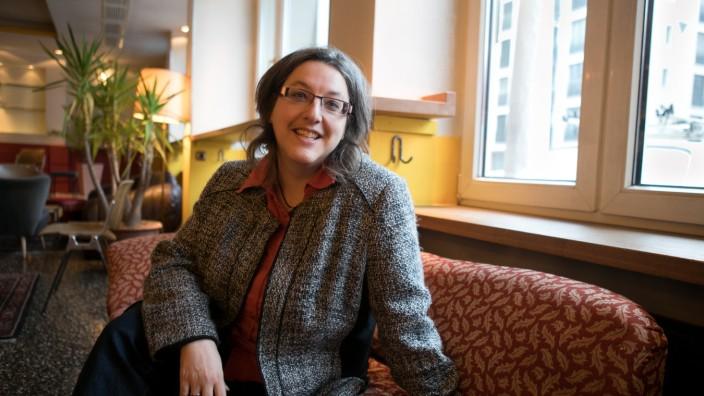 Christine Wittig, sie führt eine Firma für Internetdienstleistungen und war eine der ersten Firmen in der Stadt, als das Internet neu war.