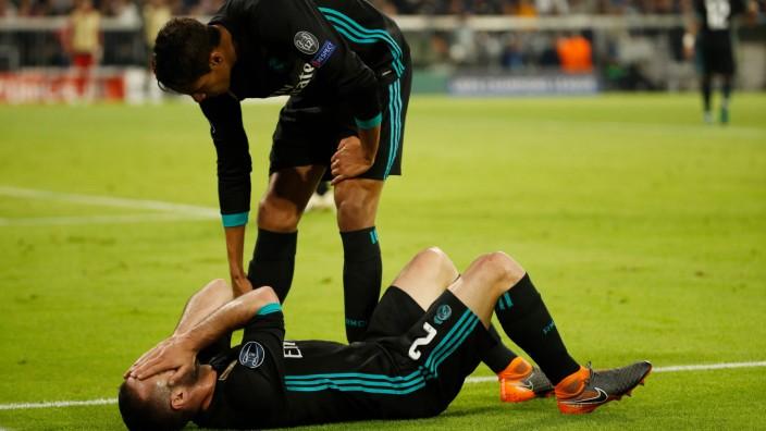 Champions League: Dani Carvajal (u.): Verpasst das Rükspiel gegen Bayern