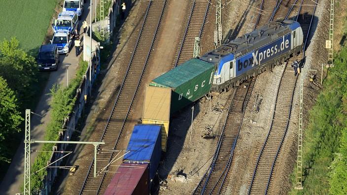 Güterzug in Riem entgleist