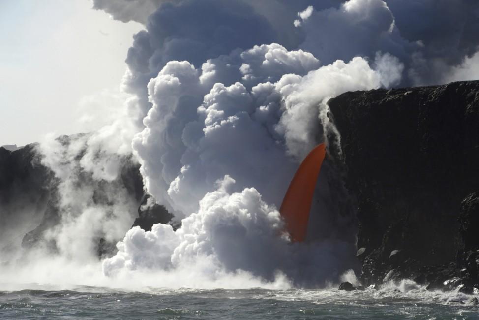Lava-Ströme auf Hawaii