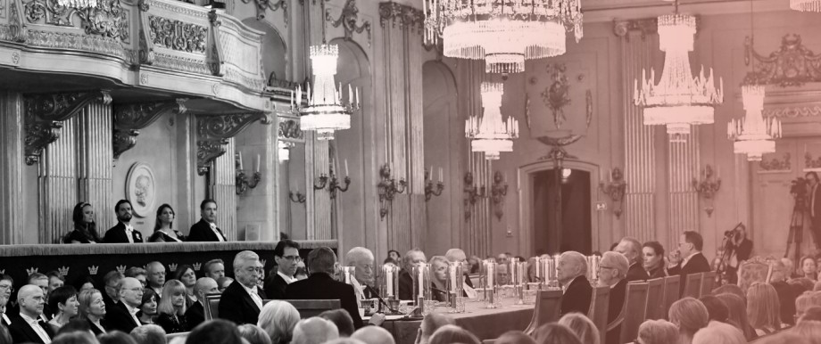 FILE PHOTO: A general view of the Swedish Academy's annual meeting at the Old Stock Exchange building in Stockholm