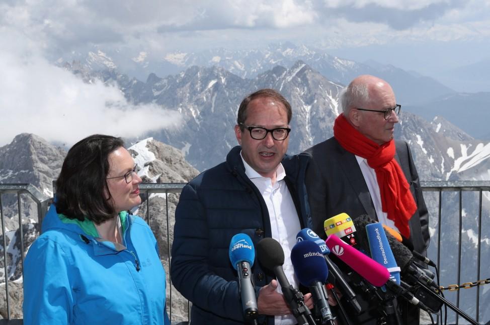 SPD And CDU/CSU Bundestag Factions Meet On Zugspitze Mountain