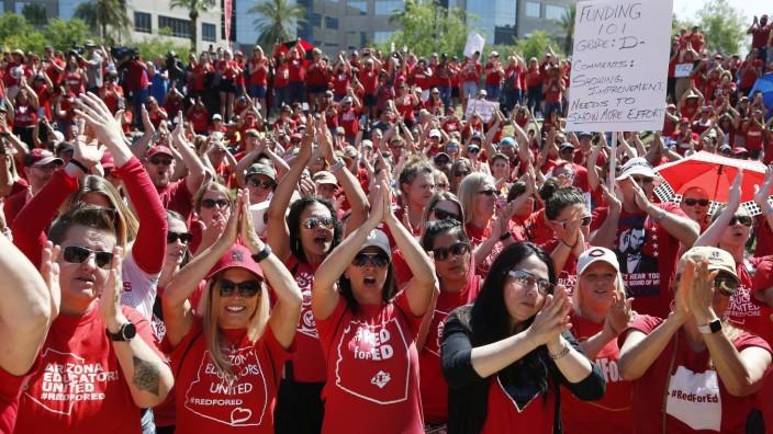 USA: Zuletzt streikten zahlreiche Lehrer in Arizona.
