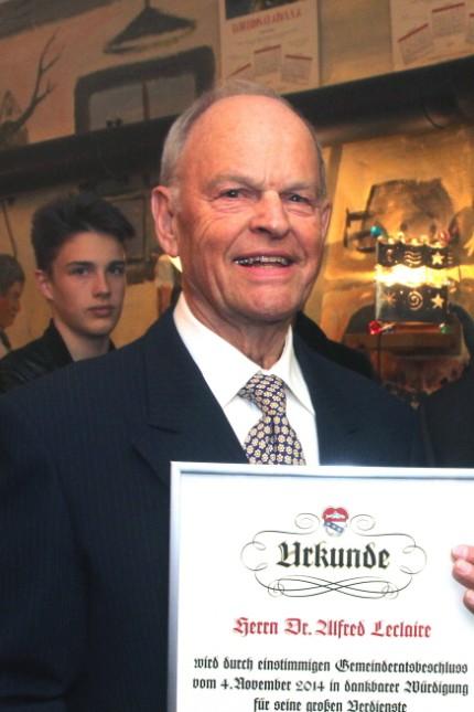 Ehrenbürgerwürde für Alfred Leclaire
