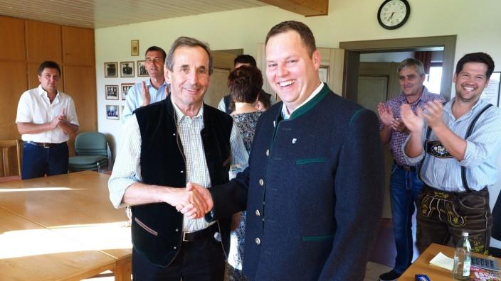 Neuer Bürgermeister Baiern Martin Riedl