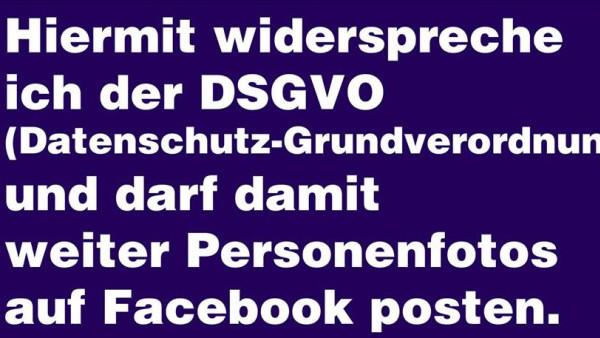 Facebook Widerspruch DSGVO