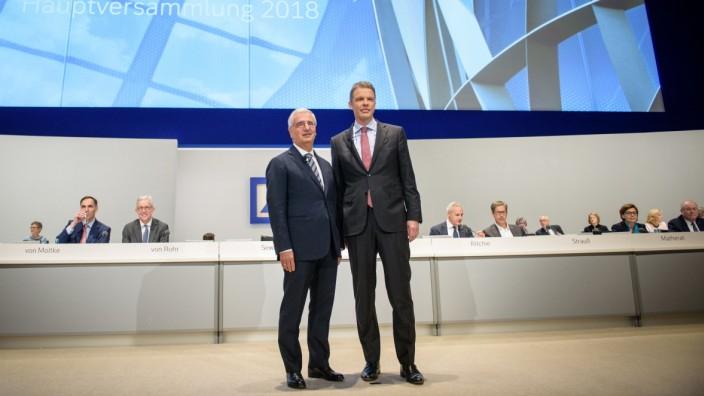 Deutsche Bank - Aufsichtsratschef Paul Achleitner und Konzernchef Christian Sewing in Frankfurt