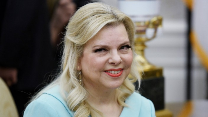 Sara Netanyahu looks on in the Oval Office of the White House in Washington DC March 5 2018 PUBL