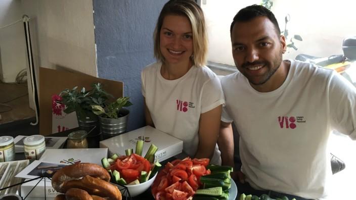 Melanie Jessen und Erkan Günaltay organisieren das Nürnberger Food-Festival.