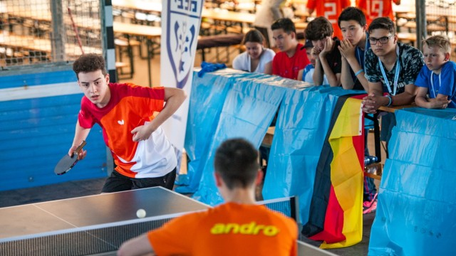 """Auf dem Programm der """"Junior Games"""" in München steht auch Tischtennis."""