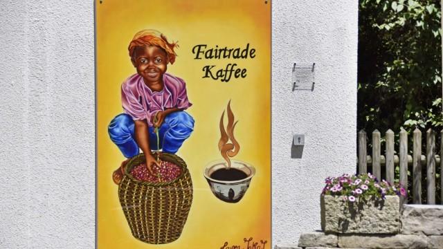 Diskussion um Kunstwerk: Die Kritik am Gröbenzeller Fairtrade-Bild an einem Bürogebäude in der Bahnhofstraße richtet sich zum einen dagegen, dass ein arbeitendes Kind nur schwer mit Fairtrade zu vereinbaren sei.