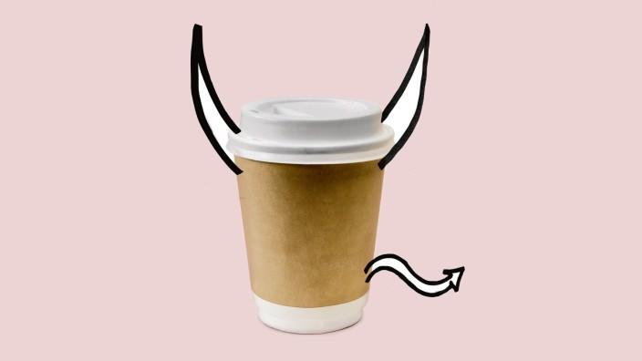 Kaffeebecher: Eine Erfindung des Teufels? Der Pappbecher zum Mittnehmen.