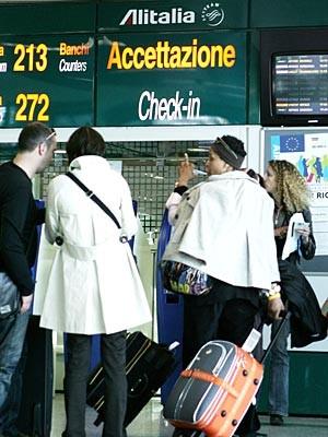 Übernachten auf dem Flughafen: Rom, AFP