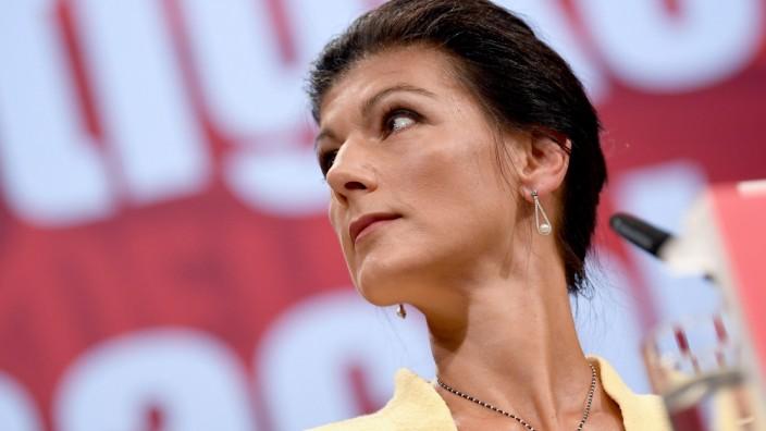 """Sarah Wagenknecht auf dem Bundesparteitag 2018 der Partei """"Die Linke"""""""