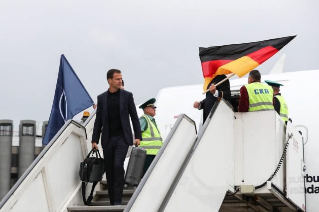 Ankunft der deutschen Mannschaft in Russland