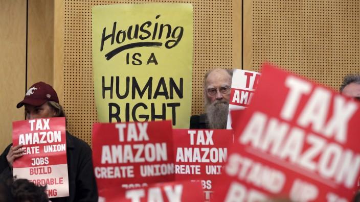 Demonstration für die Obdachlosen-Stuer in Seattle.