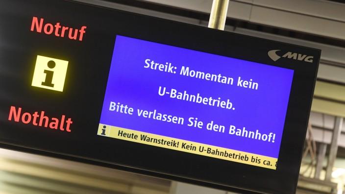 MVG: Warnstreik im Münchner Nahverkehr