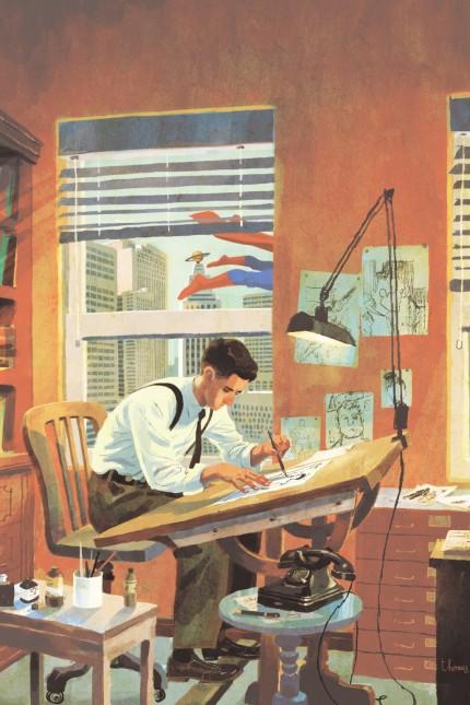 """""""Joe Shuster"""" - Graphic Novel über die Schöpfer von Superman - Juni 2018 = """"80 Jahre Superman"""", von dt. Autor Julian Voloj (Münster)"""