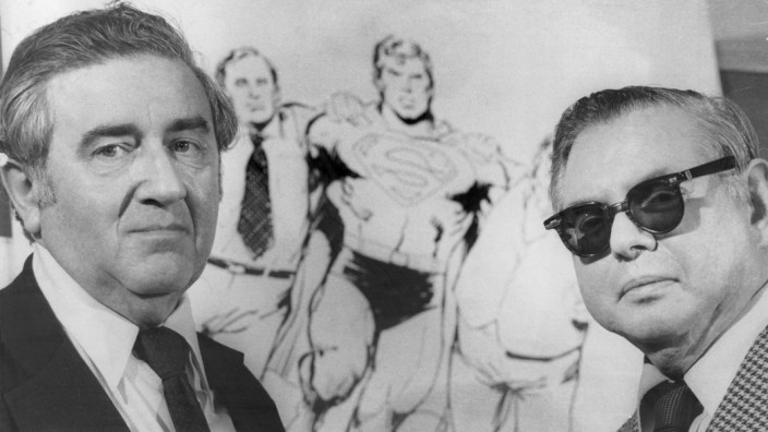 Superman creators Joe Shuster and Jerry Siegel