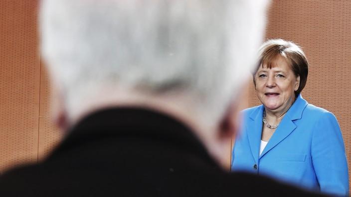 Bundeskanzlerin Angela Merkel und Horst Seehofer