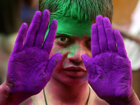 Holifest in Indien 2009, AFP