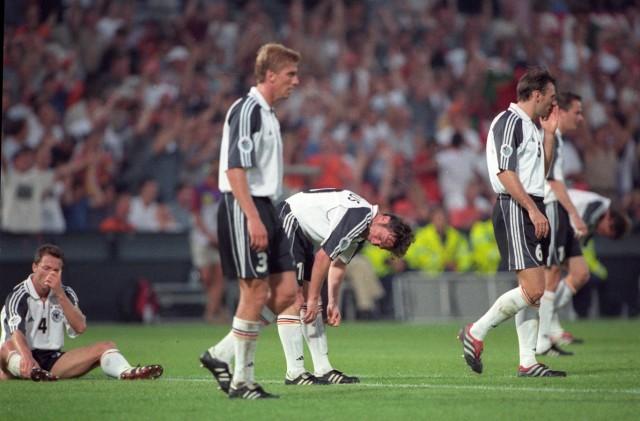 Fussball Europameisterschaft 2000 in Belgien Niederlande Portugal Deutschland 3 0 Enttäuschte deut; EM 2000