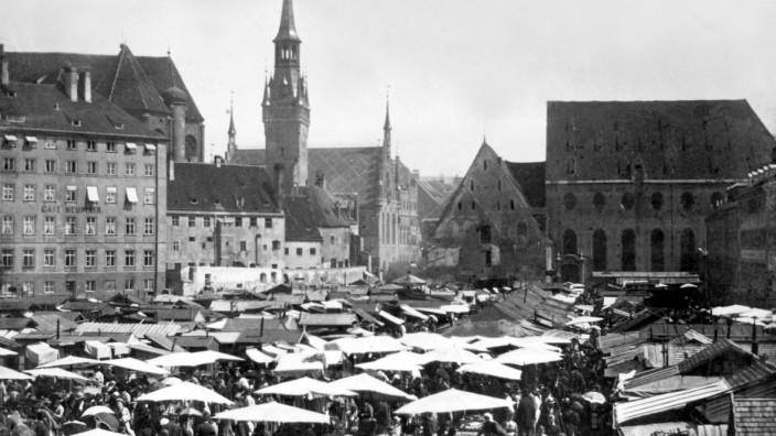 München historisch: Viktualienmarkt um 1890