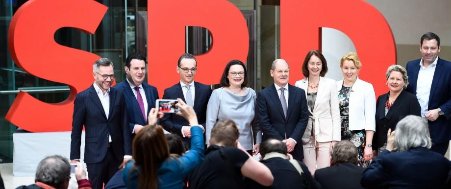 SPD stellt Minister für Groko vor
