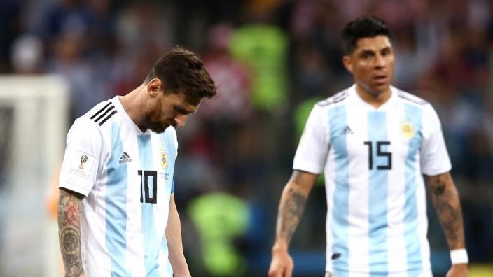 Lionel Messi 2018 beim WM-Spiel gegen Kroatien