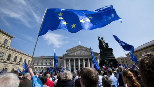 Pro-Europa Demonstration in München, 2017