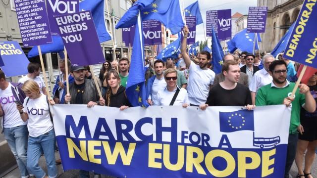 Kundgebung: Rund 500 Demonstranten zogen am Samstag über die Ludwigstraße zum Max-Joseph-Platz.