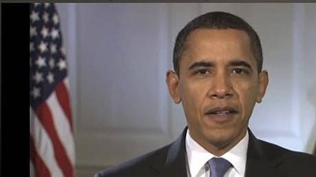 Obama umwirbt Teheran: Barack Obama in seiner Videobotschaft.