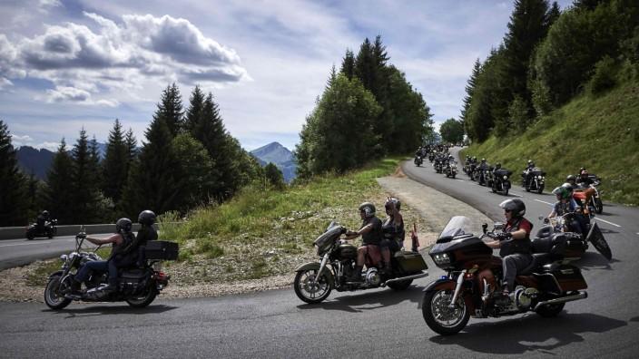 Harley-Davidson im Zoll-Streit: Born to be global: ein Harley-Treffen 2017 in Europa